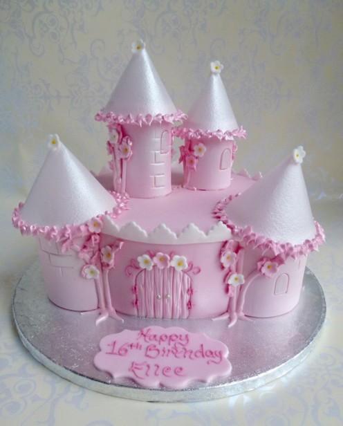 Single Tier Castle Cake