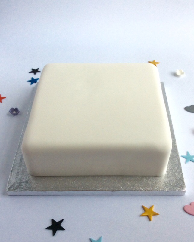 Plain Undecorated Birthday Cake