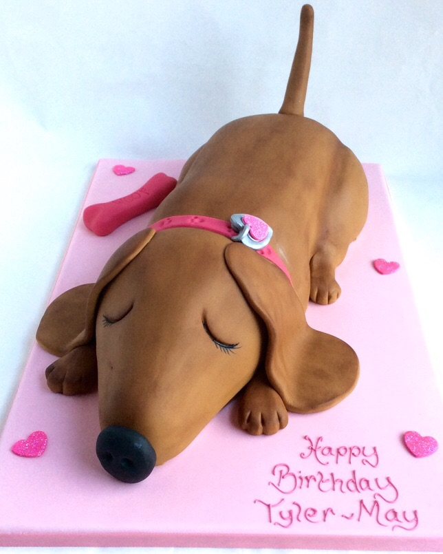 Sleepy Sausage Dog Karen S Cakes