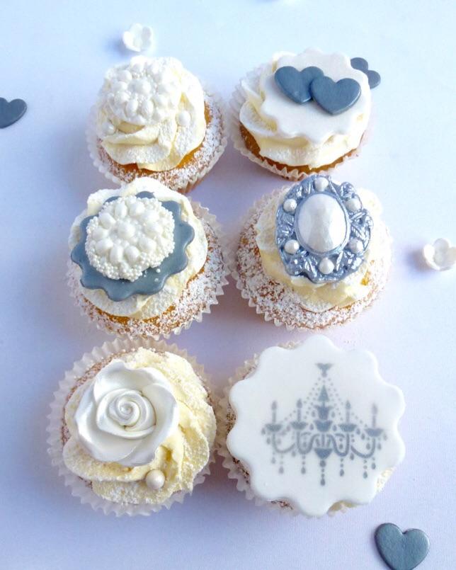 Wedding Cupcake Tower: Moon River Cupcake Tower (64 Cupcakes)