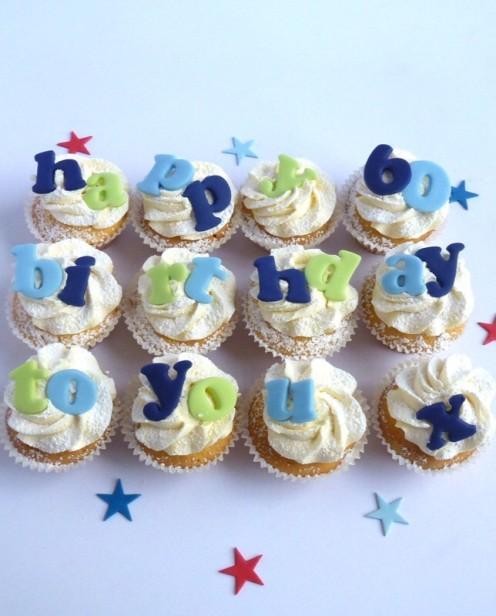 Happy Birthday Cupcakes   Karen's Cakes