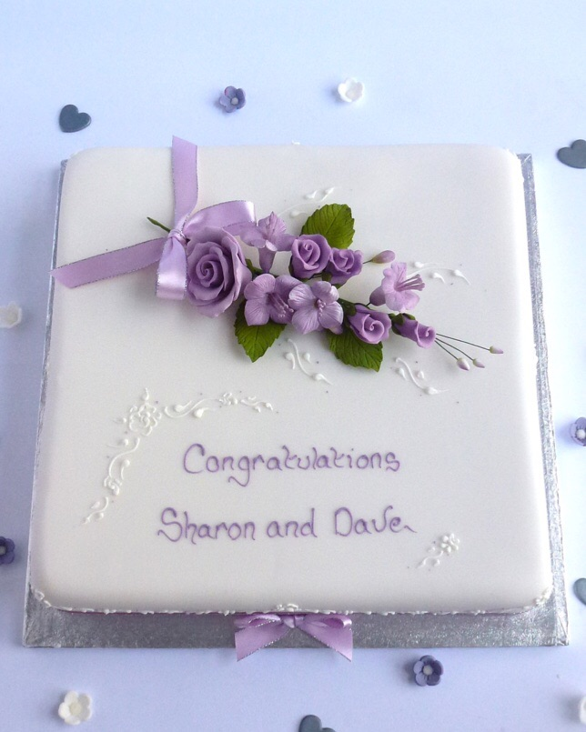 Square Simple Lace Karens Cakes
