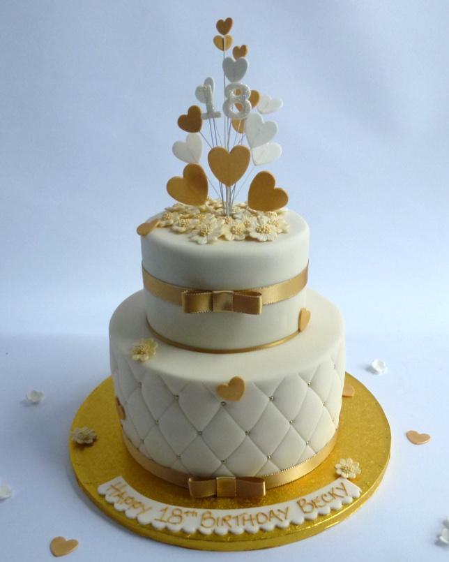 2 Tier Quilted Elegance Karen S Cakes