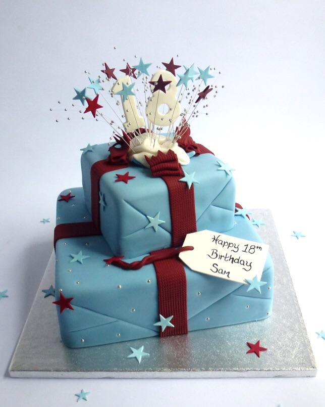 2 Tier Guys Exploding Parcel Stars Karen S Cakes