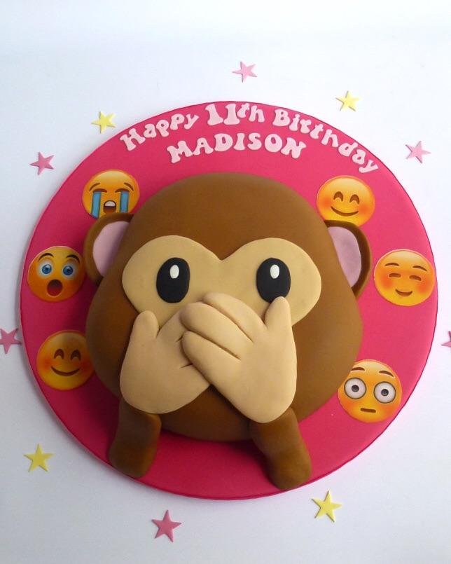 Emoji Monkey Cake Karen S Cakes
