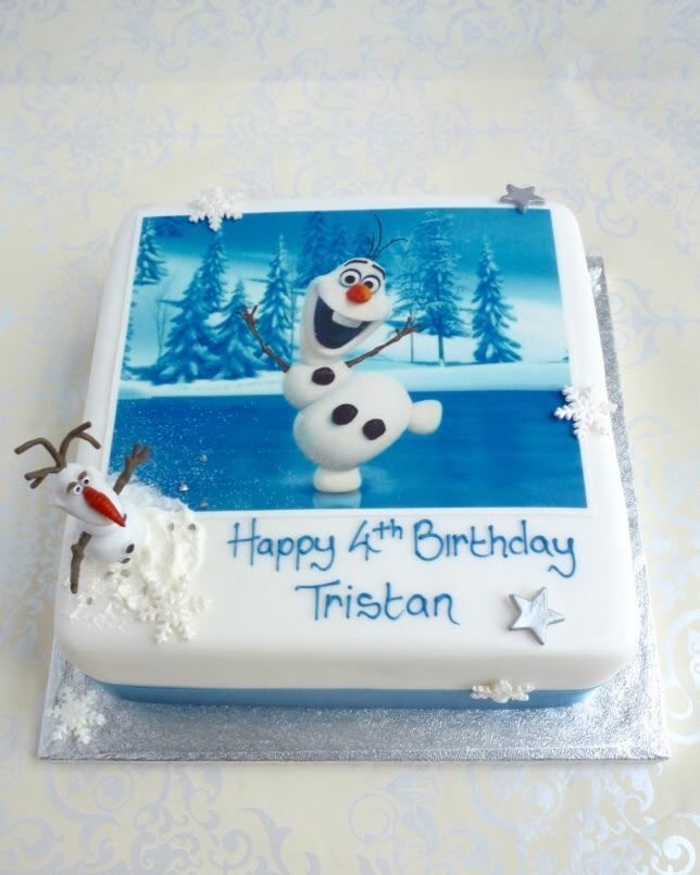 Cake With Icing Freeze : Frozen Photo Cake Karen s Cakes