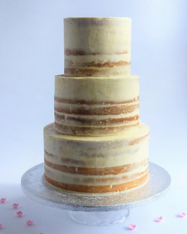 Semi Naked Wedding Cake Chocolate Lemon