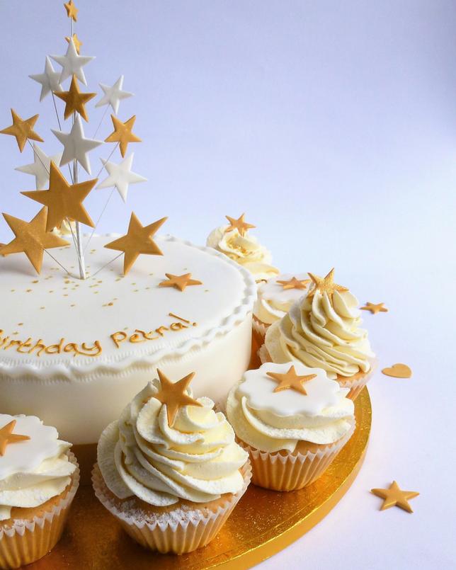 Round-about Star Spray Topper Karen s Cakes