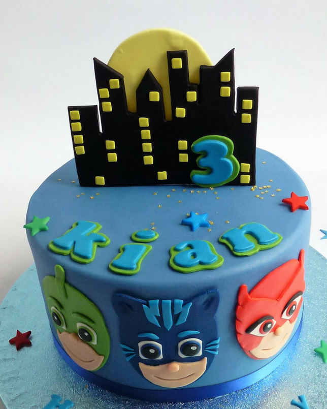 P J Masks Cake Blue Karen S Cakes