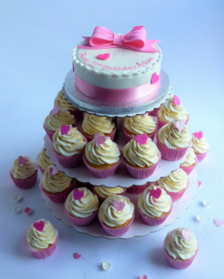 Pink bow cupcakes 644x805