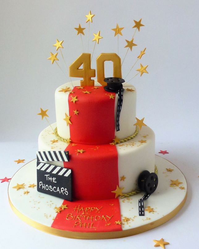 2 Tier The Red Carpet For A Star Karen S Cakes